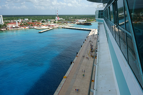 Royal Caribbean's Navigator of the Seas docked in Cozumel, Mexico on our Caribbean Cruise vacation