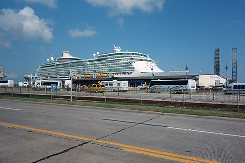 Embarkation day at Galveston Cruise Terminal on Royal Caribbean's Navigator of the Seas on our Caribbean Cruise vacation