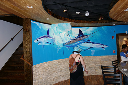 Guy Harvey's Grill in Grand Cayman, a tender port for Royal Caribbean's Navigator of the Seas on our Caribbean Cruise vacation