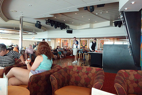 CruiseCritic's Meet and Mingle gathering on Royal Caribbean's Navigator of the Seas on our Caribbean Cruise vacation